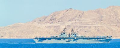 USS Iwo Jima (LHD-7) - klasy napaść wodno-lądowa statek Zdjęcia Royalty Free