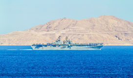 USS Iwo Jima (lhd-7) - Wasp-class amfibisch aanvalsschip Stock Foto's