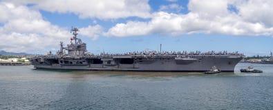 USS John Γ Stennis στις 5 Αυγούστου 2016 στο Pearl Harbor Στοκ Εικόνα