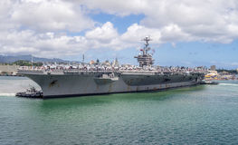 USS John C Stennis am 5. August 2016 im Pearl Harbor Stockbild