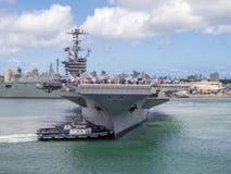 USS John C Stennis le 5 août 2016 dans Pearl Harbor Photographie stock