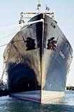 USS Kennedy à l'académie maritime de masse images stock