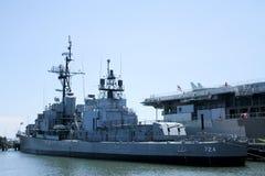 USS Laffey, patriotpunkt, monterar angenämt, SC Royaltyfria Bilder