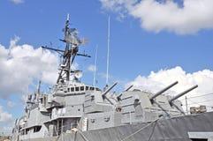 USS Laffey: Przednie wieżyczki & nadbudowa Zdjęcia Royalty Free
