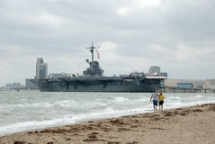 USS Lexington, Corpus Christi, TX lizenzfreies stockfoto