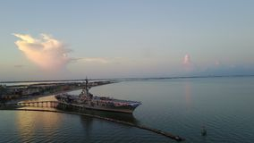 USS Lexington, Corpus Christi, TX-surrbild arkivfoton