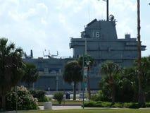 USS Lexington em Corpus Christi, Texas EUA Fotos de Stock Royalty Free
