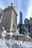 USS Maine Monument - Central Park, NYC Stock Photo