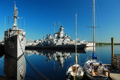 The USS Massachusetts and the USS Joseph Kennedy Royalty Free Stock Photo