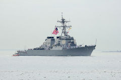 USS McFaul guided missile destroyer of the United States Navy during parade of ships at  Fleet Week 2014 Stock Images