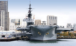 USS Midway. Picture of aircraft carrier USS Midway at San Diego Royalty Free Stock Photo