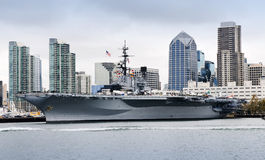 USS Midway. Side view of USS Midway at San Diego royalty free stock image