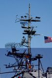 USS Midway. The tower of the USS Midway, which is a museum now in San Diego,CA Stock Photography