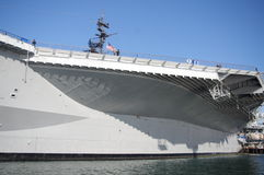 USS Midway. At the harbor in San Diego Stock Photography