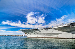 USS Midway Aircraft carrier. Attraction in San Diego - USS Midway Aircraft carrier stock photo