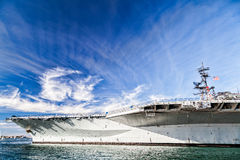 USS Midway Aircraft carrier. Attraction in San Diego - USS Midway Aircraft carrier stock photography