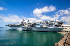 USS midway aircraft carrier Stock Image