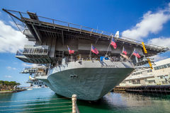 USS midway aircraft carrier Royalty Free Stock Photos