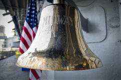 Uss Midway bell Stock Photography