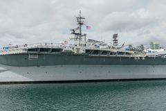 USS Midway Museum, historical naval aircraft carrier museum in downtown San Diego stock photography