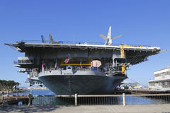 The USS Midway Museum located in downtown San Diego, California at Navy Pier Stock Photo