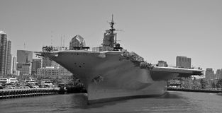 USS Midway. SAN DIEGO, CALIFORNIA USA 04 8 2015: USS Midway was an aircraft carrier of the United States Navy, the lead ship of its class. Commissioned a week royalty free stock images