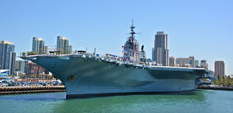 USS Midway. SAN DIEGO, CALIFORNIA USA 04 8 2015: USS Midway was an aircraft carrier of the United States Navy, the lead ship of its class. Commissioned a week royalty free stock photos