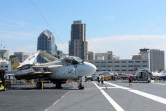 USS Midway, San Diego Royalty Free Stock Image