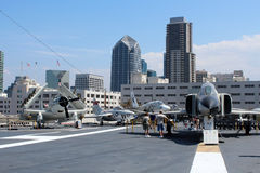 USS Midway, San Diego Royalty Free Stock Photo