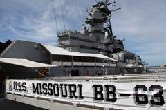 USS missouri,   Fotos de Stock Royalty Free