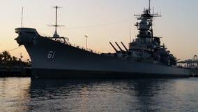 USS Missouri. Battleship in the harbor Stock Photo