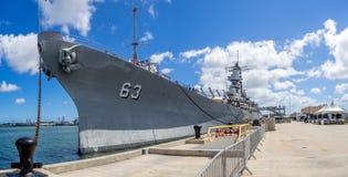 USS Missouri battleship museum Royalty Free Stock Image