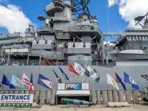 USS Missouri battleship museum Royalty Free Stock Photo