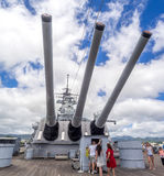 USS Missouri battleship museum Royalty Free Stock Photos