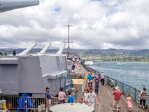 USS Missouri battleship museum Royalty Free Stock Image