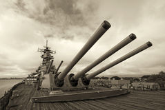 USS Missouri Battleship at Pearl Harbor in Hawaii Stock Image