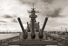 USS Missouri Battleship at Pearl Harbor in Hawaii Royalty Free Stock Photos