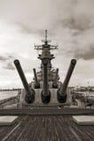 USS Missouri Battleship at Pearl Harbor in Hawaii Stock Photos
