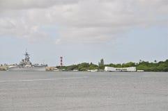 USS Missouri BB-63 i Arizona pomnik obraz stock