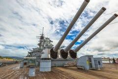 USS Missouri cannons Royalty Free Stock Photos