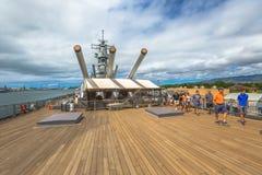 USS Missouri guided tour Royalty Free Stock Photos