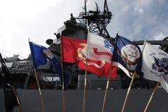 USS Missouri, Machtige Mo Royalty-vrije Stock Afbeelding