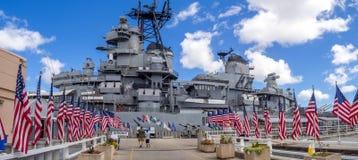USS Missouri pancernika muzeum zdjęcie royalty free