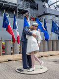 USS Missouri pancernika muzeum Zdjęcia Stock