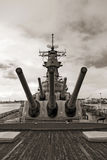 USS Missouri Schlachtschiff am Pearl Harbor in Hawaii Stockfotos