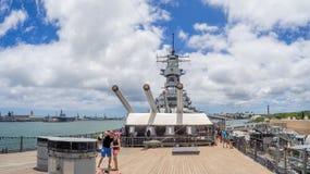 USS Missouri Schlachtschiffmuseum Stockfoto