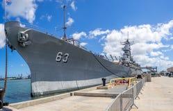 USS Missouri Schlachtschiffmuseum Lizenzfreie Stockfotos