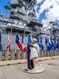 USS Missouri Schlachtschiffmuseum Stockbild
