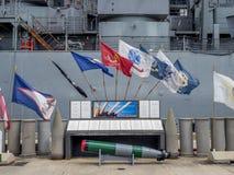 USS Missouri Schlachtschiffmuseum Stockbilder