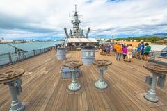 USS Missouri tourist Stock Photo